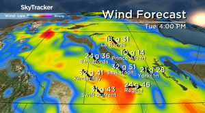 Saskatoon weather outlook: thunderstorm risk Tuesday