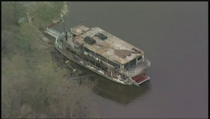 Aftermath of fire that gutted Paddlewheel Princess