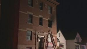 Winnipeg firefighters battle Young Street blaze