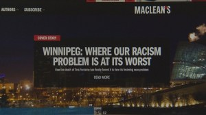 Winnipeg dubbed most racist city