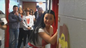 Miley Cyrus, Katy Perry knock on dorm rooms to campaign for Hillary Clinton