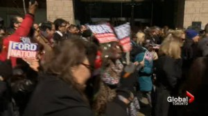 Rob Ford supporters join funeral procession