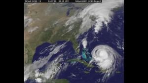 Satellite view of Joaquin becoming major hurricane