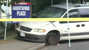 Abbotsford police hunt for suspect involved in triple hit and run