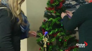 Tree lighting project shinning awareness