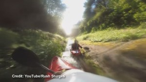 Kayakers race down BC drainage ditch in latest GoPro viral video