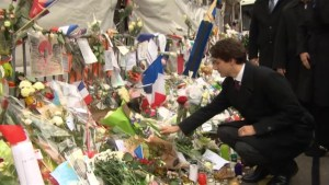 Trudeau pays tribute to Paris attack victims