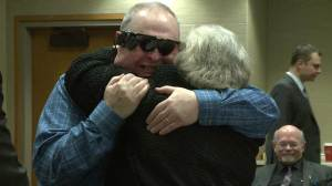 Man sees wife for first time in over a decade with bionic eye