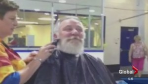 Elks president shaves off beard