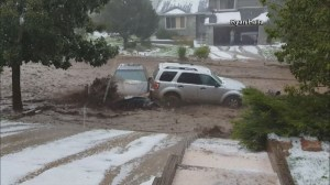 RAW: Cars washed away by flash flooding in Colorado Springs