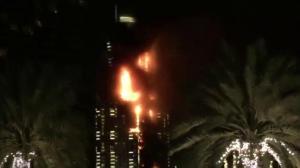 Massive fire engulfs Dubai building near Burj Khalifa
