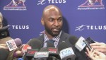 Darian Durant speaks to the Montreal media