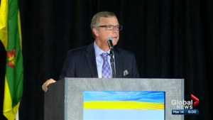 Brad Wall brings familiar message to SARM ahead of budget