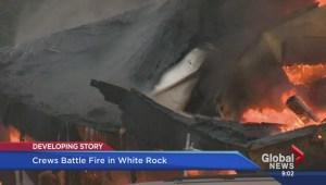 Massive fire in White Rock