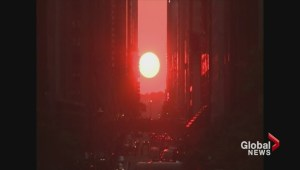 """Supermoon"" and ""Manhattanhenge"" can be viewed this weekend"