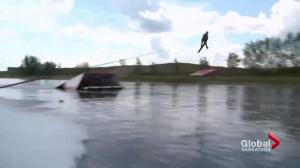 World record holder Ryan Dodd shares water-skiing passion with Saskatoon youth