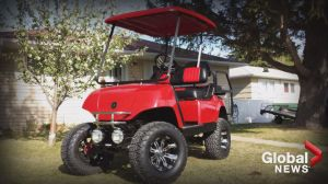 Hobby mechanic designs one-of-a-kind golf carts in Lethbridge