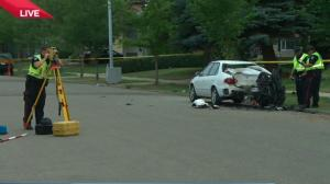 Motorcycle driver dies after crash in west Edmonton
