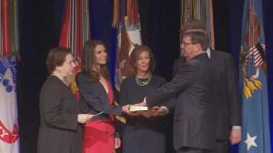 Secretary of Defense Ash Carter takes oath of office