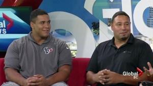 B.C. NFL players return home to help kids