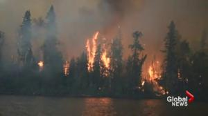 Military working to spare Saskatchewan town from wildfire