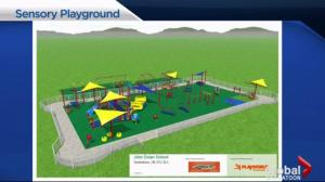 Building a sensory playground in Saskatoon