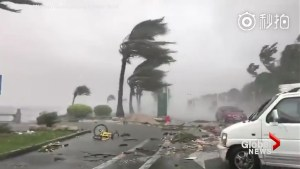 Typhoon Hato slams southeast China