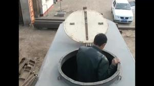 Chinese man shows off homemade submarine