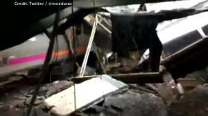 Passenger films aftermath of deadly train crash on Hoboken, New Jersey