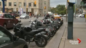 New pilot project offers designated parking for motorcycles