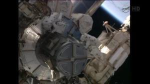 Raw video: Astronauts spacewalk to perform upkeep on ISS
