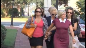 Former Baltimore Ravens cheerleader enters courtroom prior to verdict in rape case
