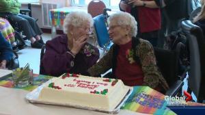 Celebrating their 105th birthdays