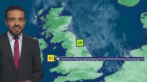 Weatherman nails tongue-twisting Welsh town's name during forecast