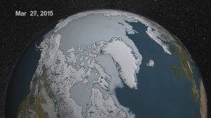 Visualization illustrates the summer sea ice during 2015