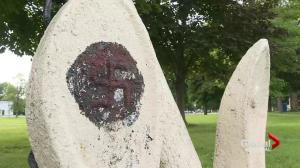 Swastika erased from Pointe des Cascades park
