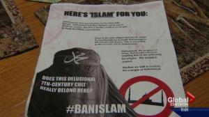 Edmonton resident shares disappointment with anti-Islam flyer left in his mailbox