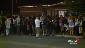 Rallies supporting Brown and the officer who shot him highlights divide