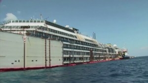 Costa Concordia refloated