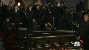 Emotional moments as Céline Dion lays husband René Angélil to rest