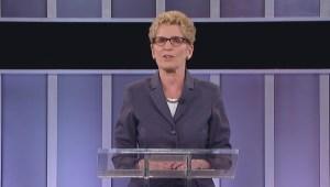 Ontario Election Debate: Hudak 'didn't hear an answer' on debt reduction
