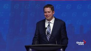 'I guess it's always sunny in the Caribbean': Scheer takes shot at Trudeau