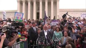 Man behind same-sex marriage at U.S. Supreme Court gives emotional speech following ruling