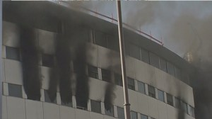 Raw video: Massive fire breaks out at Radio France building