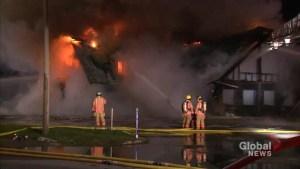Fire destroys Baie d'Urfe restaurant