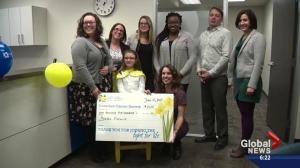 Girl hailed a hero for making difference in fight against cancer