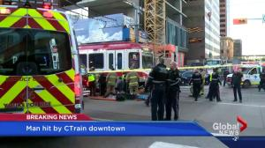 Commuter chaos hits downtown Calgary after bizarre CTrain incident
