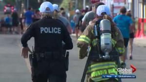 First responders run marathon in full gear