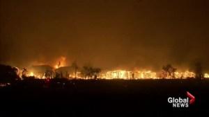 Fierce wildfires scorching California