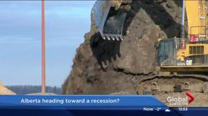 Alberta premier warns dropping oil prices could lead to recession